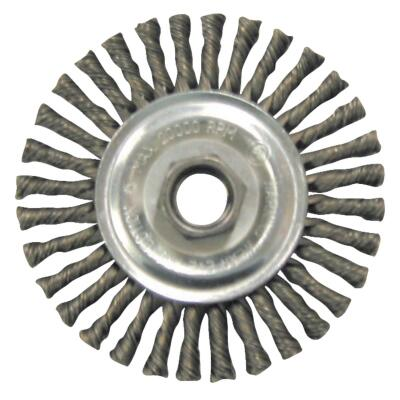 Weiler Vortec 4 In. Twisted/Knotted 0.014 In. Angle Grinder Wire Wheel (-Pack)