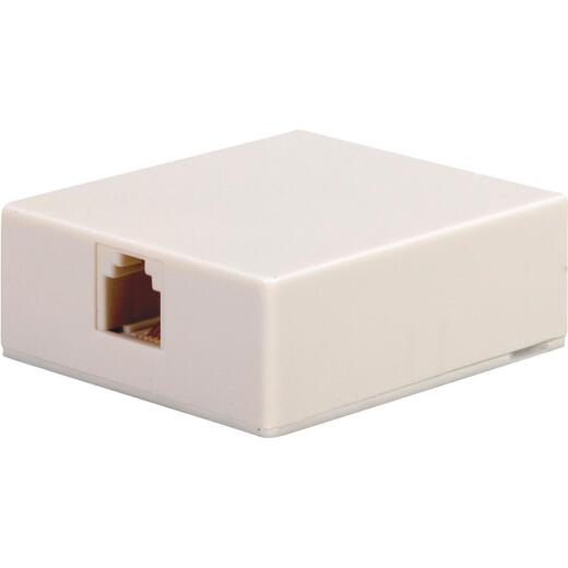 RCA White Surface Mount Telephone Jack