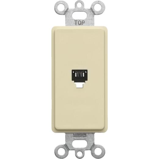 Leviton Decora Ivory Flush Mount Telephone Jack