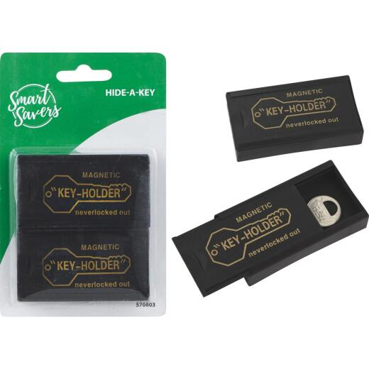 Smart Savers Hide-A-Key Black Key Hider (2-Pack)