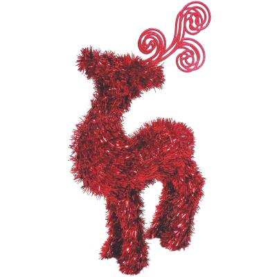 Youngcraft 14 In. Tinsel Deer Holiday Decoration