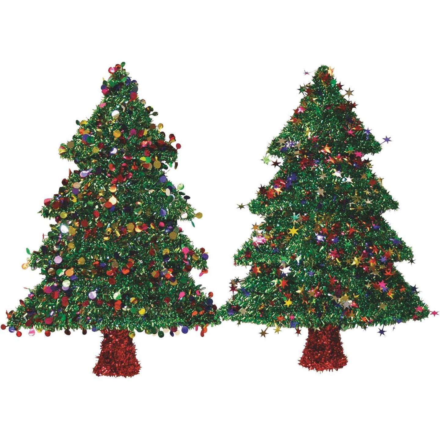 F C Young 18 In. Tinsel Christmas Tree Holiday Decoration Image 1